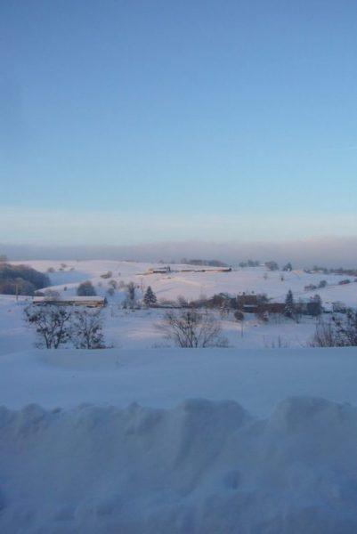 winter in Tours sur Meymont Auvergne